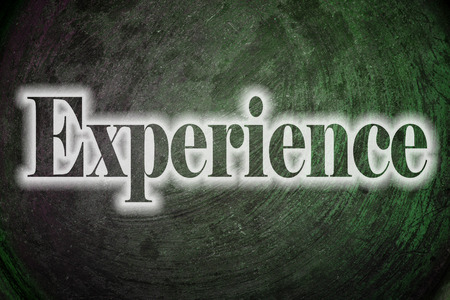 factor: Experience Text on Background Stock Photo