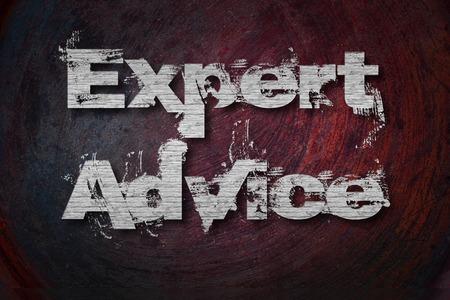 lex: Expert Advice Text on Background Stock Photo