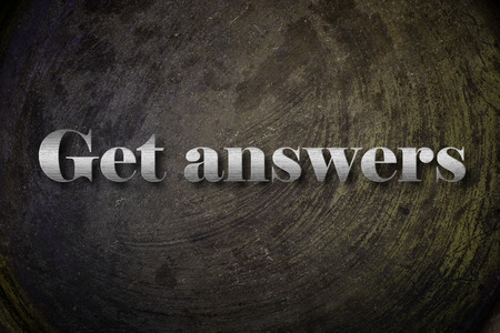 Get answer text on Background photo