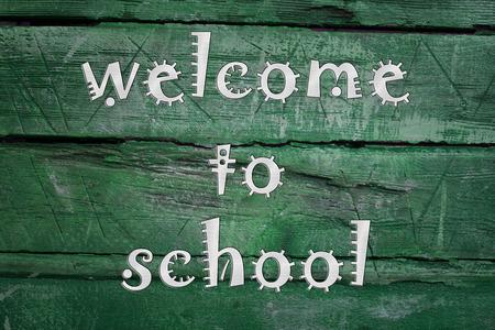 Welcome to school blackboard photo