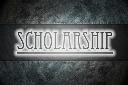 scholarship text on background Stock Photo