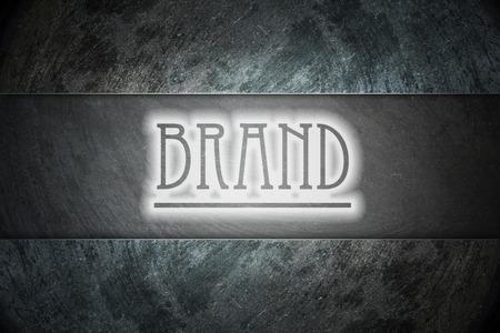 brand damage: Brand text onl blackboard
