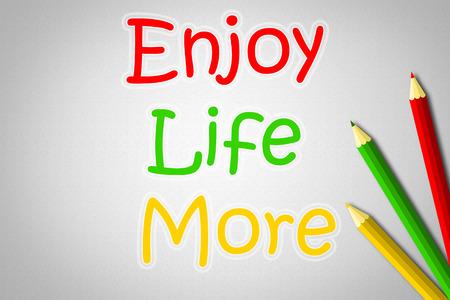 enjoy life: Enjoy Life Altro Concetto Archivio Fotografico