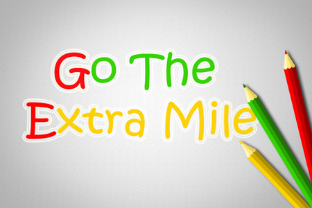 exceeding: Go The Extra Mile Concept