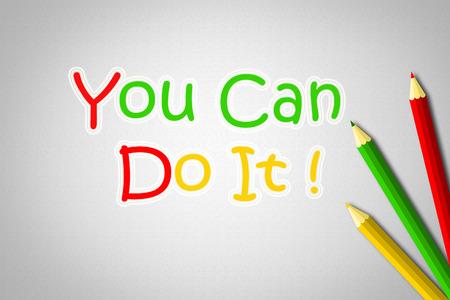 tu puedes: Usted puede hacerlo Concept