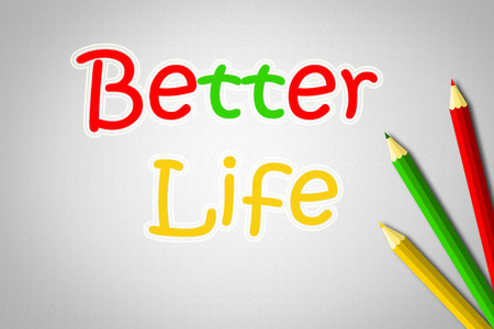 versions: Better Life Concept Stock Photo