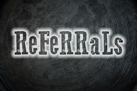 Referrals Concept photo