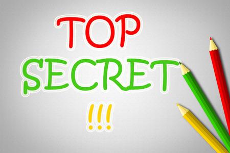 Top Secret Concept text photo