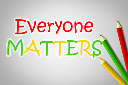 matters: Everyone Matters Concept text