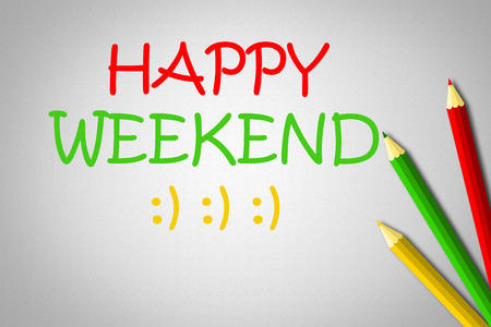 Happy Weekend Concept text background photo