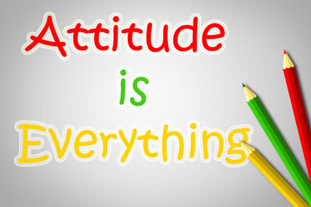 Attitude Is Everything Concept text photo
