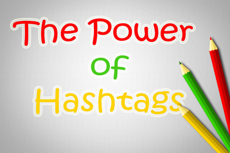 The Power Of Hashtags Concept text photo