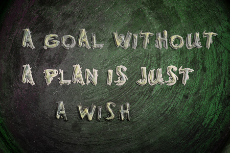 A Goal Without A Plan Is Just A Wish Concept text photo