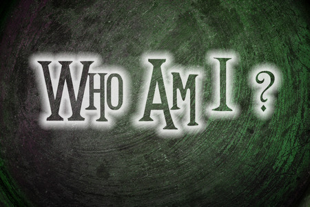 Who Am I Concept text Stock Photo