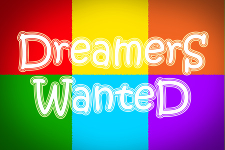 thinkers: Dreamers Wanted Concept text