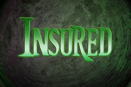 Insured Concept text photo
