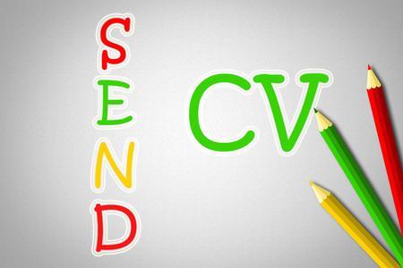cv: Send CV Concept text Stock Photo