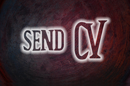 Send CV Concept text photo