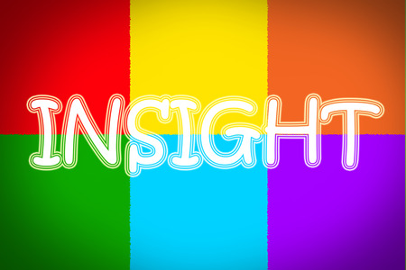 insightful: Insight Concept text Stock Photo