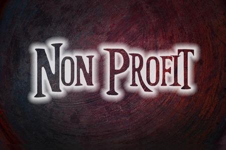 nonprofit: Non Profit Concept text