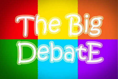 The Big Debate Concept text photo
