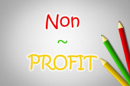 non: Non Profit Concept text