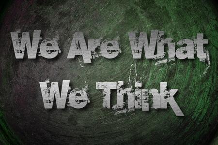 Think Positive Concept text photo