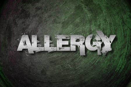 Allergy Concept text photo
