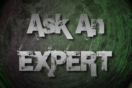 warranty questions: Ask An Expert Concept text Stock Photo