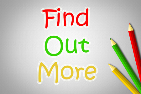 find out: Find Out More Concept text
