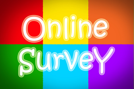 Online Survey Concept text photo