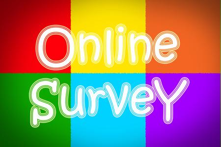 online survey: Online Survey Concept text
