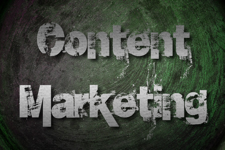 Content Marketing Concept text photo