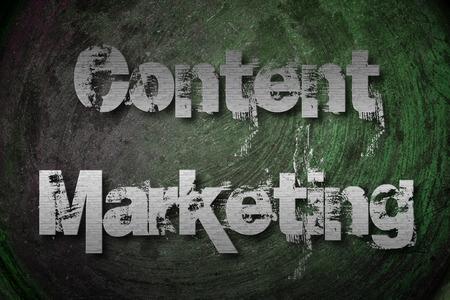 Content Marketing Concept text photo