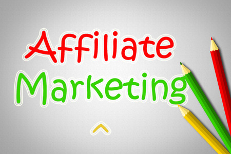 Affiliate Marketing Concept text on background photo