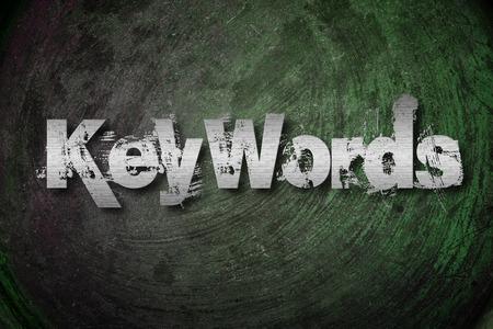 keywords: Keywords Concept text on background