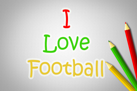 I Love Football Concept text on background