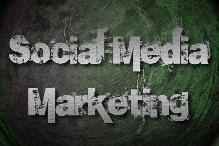 Social Media Marketing Concept text photo