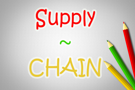Supply Chain Concept text on background photo