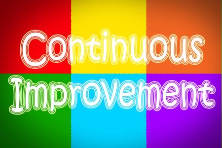 Continuous Improvement Concept text on background