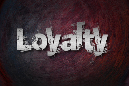 jargon: Loyalty Concept text on background