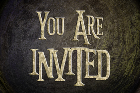 You Are Invited Concept text on background Stock Photo