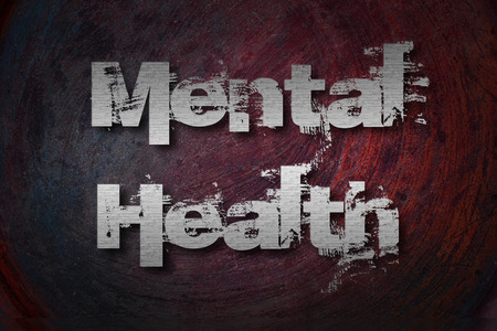 Mental Health Concept text on background