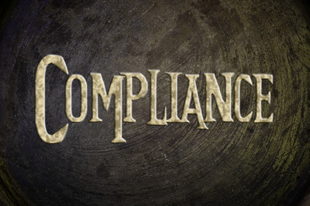 compliant: Compliance Concept text on background