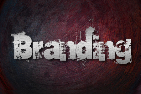 Branding Concept text on background photo