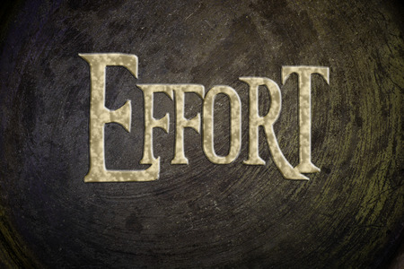dedicate: Effort Concept text on background