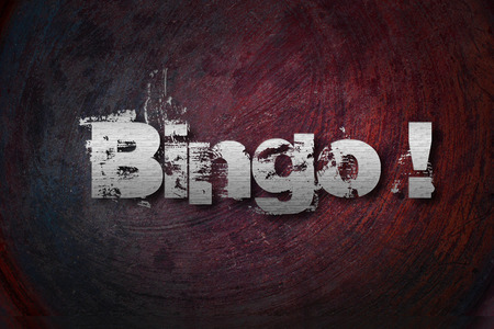 Bingo Concept text on background Stock Photo