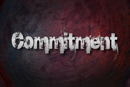 consign: Commitment Concept text on background Stock Photo