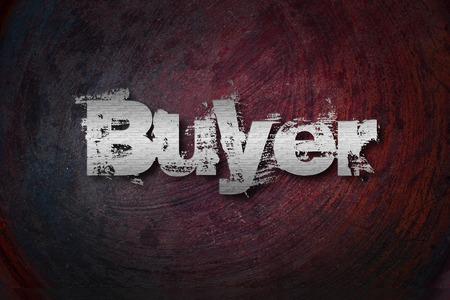 Buyer Concept text on background Stok Fotoğraf