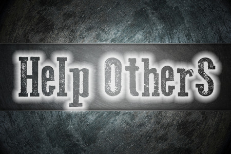 raising cans: Help Others Concept text on background